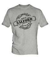 MADE IN SALFORD MENS T-SHIRT GIFT CHRISTMAS BIRTHDAY 18TH 30TH 40TH 50TH 60TH