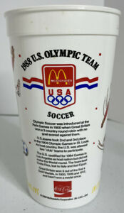 Vintage 1988 U.S. Olympic Soccer Team Plastic McDonald's Cup Pre Owned Louisiana
