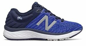 New Balance Kid's 860v10 Big Kids Male Shoes Navy with Blue & Blue