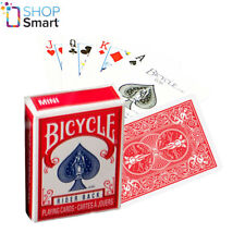 BICYCLE RIDER BACK MINI STANDARD INDEX POKER PLAYING CARDS MAGIC TRICKS RED NEW