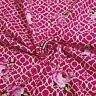 Dark Pink Lattice Roses Fenton House Fenton House 100% Cotton Fabric Gutermann