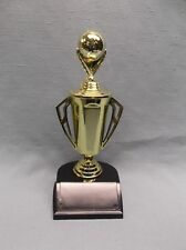 medium soccer trophies award cup weighted black base