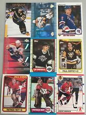 (57) Ice Hockey Investment Card Lot Hall Of Fame Jagr Leetch Bure Roy Roenick ++