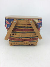 Longaberger 2007 Picnic Tote Basket Combo w Riser and Lid Early Harvest