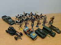 HUGE LOT OF LEAD DIECAST SOLDIERS MILITARY FRICTION TIN LITHO BRITIANS INDIANS