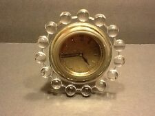 "Elegant Depression Glass Imperial Candlewick 400/440 4"" Boudoir Clock"