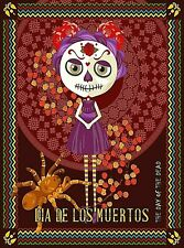 DAY OF THE DEAD STYLE SKULL ART POSTER PRINT STYLE C 36x24 HI RES 9 MIL PAPER