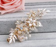 Diamante Bridal Hair Accessories Crystal Hair Pins Pearls Wedding Gown Headdress