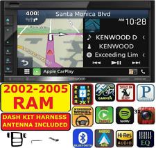 02-05 RAM KENWOOD GARMIN NAVIGATION CARPLAY ANDROID AUTO BLUETOOTH USB STEREO