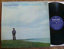 Hannes Wader - Plattdeutsche Lieder - 1974 - FOC + Texte Philips 6305 218 D MINT