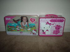 LOT OF 2 HELLO KITTY (100 PC. PUZZLE IN LUNCH BOX & 3 GREAT PUZZLES IN TIN BOX)