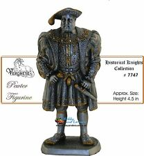King Henry VIII Pewter Hand Painted w/ Gold Accents Myths & Legends # 7747