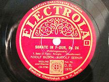 3x 78rpm ADOLF BUSCH + RUDOLF SERKIN play BEETHOVEN Spring Sonata - ELECTROLA