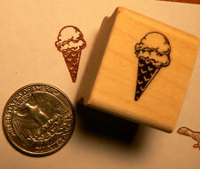 Ice cream cone miniature rubber stamps WM P24