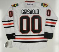 CLARK GRISWOLD CHICAGO BLACKHAWKS REEBOK NHL PREMIER JERSEY CHEVY CHASE NEW