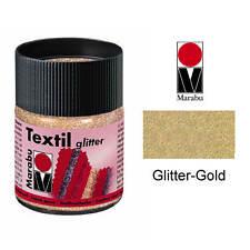 Marabu Textilfarbe Glitter, 50ml, Glitter-Gold