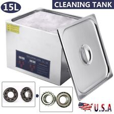 15l Digital Ultrasonic Cleaner Timer Heater Ultra Sonic Cleaning Stainless Tank