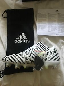 New! Adidas Nemeziz 17.3 FG White/Yellow/Black Men Soccer Cleats Sz 11