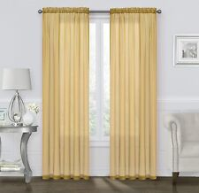 GoodGram 2 Pack: Basic Rod Pocket Sheer Voile Window Curtain Panels - Assorted C