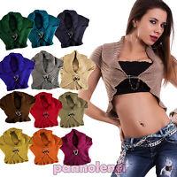 Coprispalle donna cappa collo sciarpa bolero lana tricot bottoni AS-3308