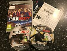 2 x PLAYSTATION 3 PS3 PES GAMES PRO EVOLUTION SOCCER 2016 / 16 & 2017 / 17