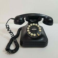 Pottery Barn Grand Phone Vintage Style Corded Desktop Pushbutton Telephone Black
