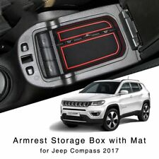 New Armrest Storage Box for Jeep Compass 2017 2018 Central Interior Glove Tray