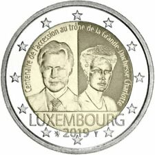 2 Euro Luxembourg 2017 Unc 50th Anniversary Military Voluntary Service