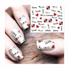 Red Heart Nail Decals Sweat Love Nail Stamping Kute Heart Sticker For Nails Art