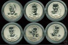 2001 NHL Medallion Set of 6 COINS Royal Canadian Mint Sawchuk Hull Beliveau Apps