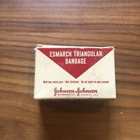 ANTIQUE  FIRST AID ESMARCH BANDAGE,  JOHNSON & JOHNSON GREAT GRAPHICS MEDICINE