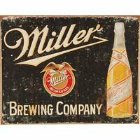 Miller High Life Beer Brewing Company Rustic Retro Tin Metal Sign 16 x 13in