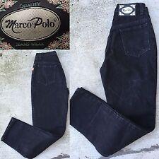 """Marc o'Polo Jeans High Waist Button Fly Black Sz 9 26"""" Waist Tapered Leg"""