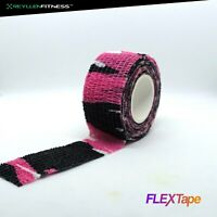 FLEXTape Pink Camo Athletic Sports Thumb Tape CrossFit Weightlifting Hookgrip UK