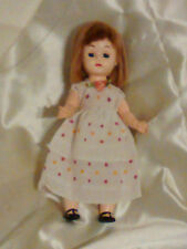 "Doll 8"" Hard plastic Walker Ginny? No markings Mohair 50's era"