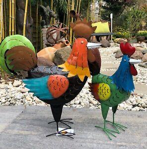 Hahn, Huhn, Hühner, Figuren für Garten, Wohnbereich oder Teichanlage