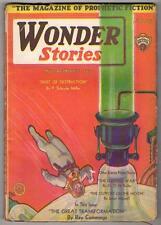 Wonder Stories Feb 1931 Frank Paul Cover Ray Cummings, Keller