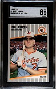 1989 Fleer #636 Bill Ripken Black Box on Bat Knob 8 NM-MT