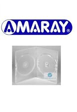 50 Double Clear DVD Case Slim 7 mm Spine Replacement Cover Face on Face Amaray