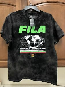 FILA Men's T Shirt Bella Italia Size M Black 100% Cotton