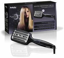 BaByliss Diamond Heated Smoothing and Straightening All Hair Types Brush - Black
