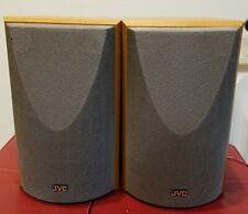 Set of 2 wooden  JVC Sp -Uxv5 vintage Speakers 20w 4 ohms  made in Japan