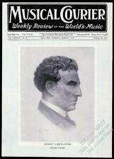 1924 Josef Lhevinne portrait Musical Courier framing cover