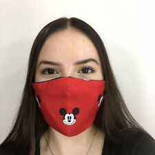 Mickey Mouse Face Mask Fabric Reversible HANDMADE IN USA - FREE SHIPPING!