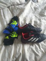 Boys adidas Football Boots And Shin Pads
