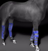 FREEDOM Ice Wraps Full-leg Front/Hind Knee Hock Pair of 2 Ice Boots Horse Equine