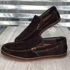 Skechers Mens Chocolate Suede Loafer Comfort Moc Toe Slip On Shoe Size 11