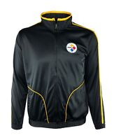 Pittsburgh Steelers Full-Zip Embroidered Track Jacket NFL Men M, L, XL, 2XL