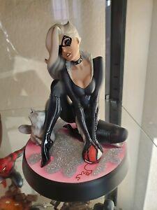 Sideshow Exclusive Black Cat J Scott Campbell Comiquette Polystone Statue
