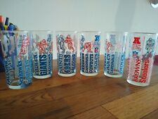 Lot (6) Vintage 1976 Welch's NFL Collectors Series Glass AFC NFC JUICE GLASSES